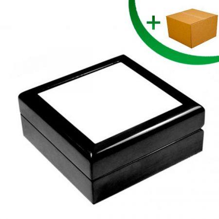 Кутия за бижута (тъмно кафява)