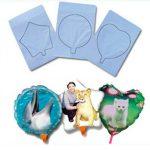 3 бр. Фото балони (18 см) + поставки