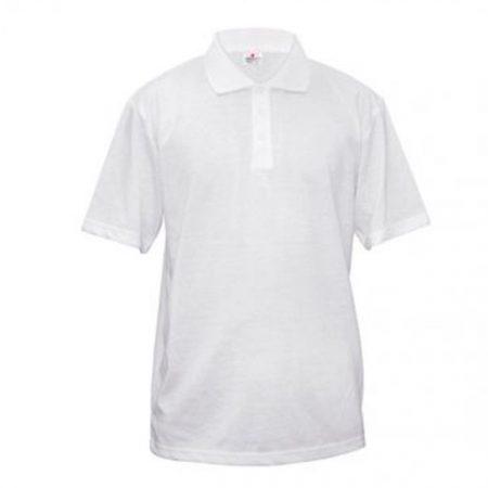 Тениска за сублимация с яка (памук+полиестер)