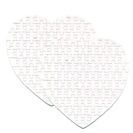 Текстилен пъзел за двустранен печат сърце