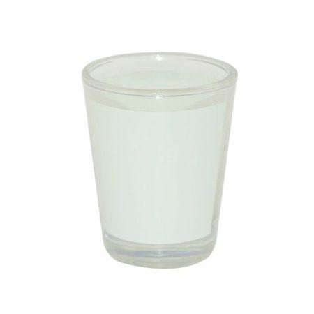Стъклен шот с бяло поле
