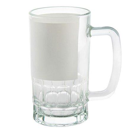 Халба - стъкло КРИСТАЛ с бяло поле
