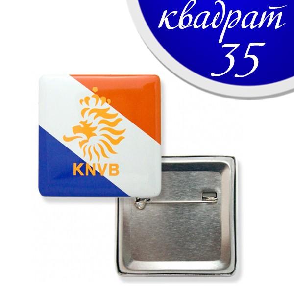 Значки 35 мм КВАДРАТ - метален гръб (50 бр)