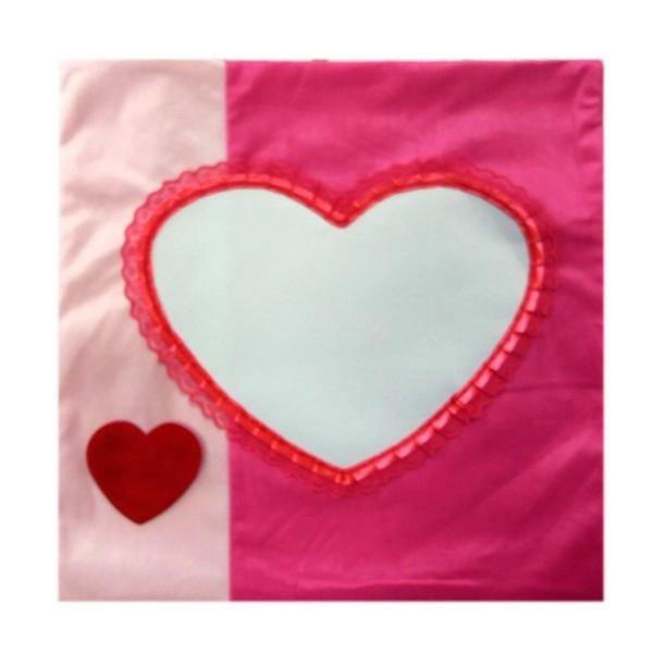 Калъфка за възглавница 40х40 см - Розова със сърце