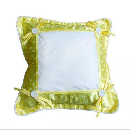 Калъфка за възглавница 37х37 см, жълта