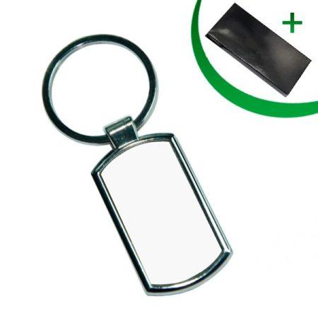 Metal keyring - Rectangular (round corners)