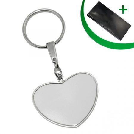 Метален ключодържател - СЪРЦЕ (двустранен)