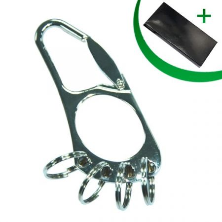 Metal keyring with 4 rings