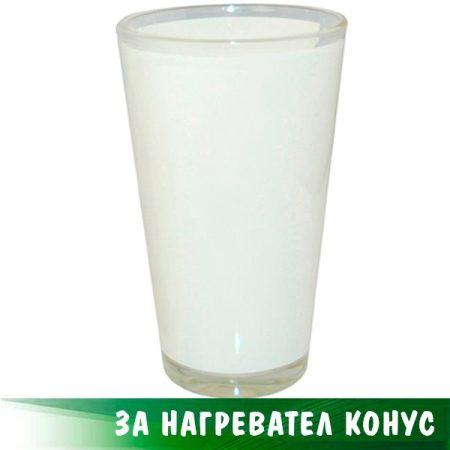 Конусовидна чаша - голяма, стъклена с бяло поле (17 oz)