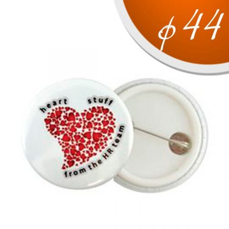 Badges 44 mm. with plastic back