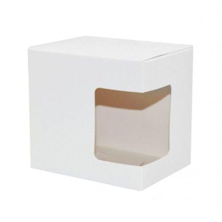 Сублимационна картонена кутия за чаша (с прозорец)