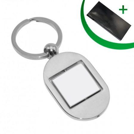 Метален ключодържател - КВАДРАТ (въртящ се)