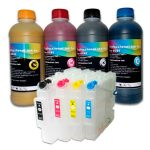 4 х 500 ml sublimation ink + 4 Refillable cartridges GC41 за Ricoh 2100/3110