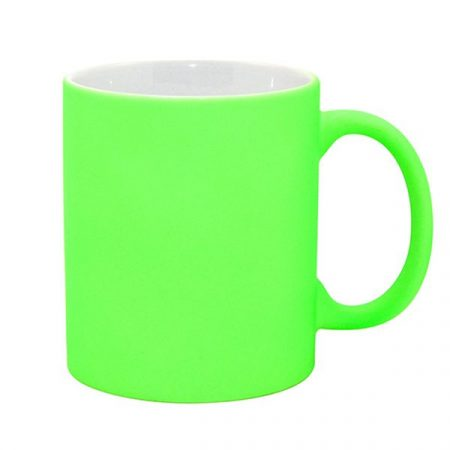 11oz Fluorescent Mug (Frosted, Bright Green)