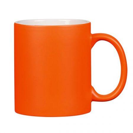 11oz Fluorescent Mug (Frosted, Reddish Orange)