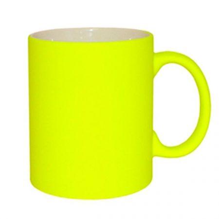 11oz  Fluorescent Mug (Frosted, Light Yellow)