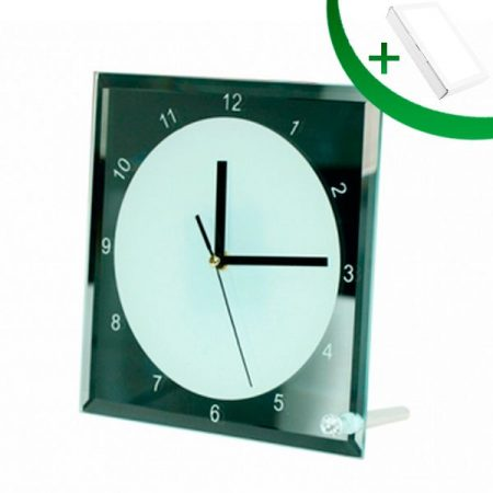 Стъклена фоторамка Часовник N14 (20 х 20 см)