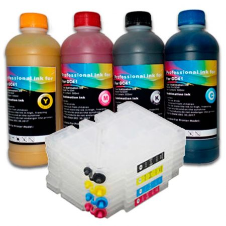4 х 500 ml sublimation ink + 4 Refillable cartridges for Ricoh 2600/3300