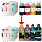 Surcharge for 4 refillable cartridges + 4x500ml sublimation ink