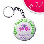 Keyring 32 mm (2 sides printable)