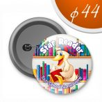 Badges 44 mm. with metal back (100 pcs)