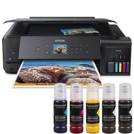 Принтер А3 Epson EcoTank 7750 + 5x80 мл сублим. мастило Sublisplash + хартия
