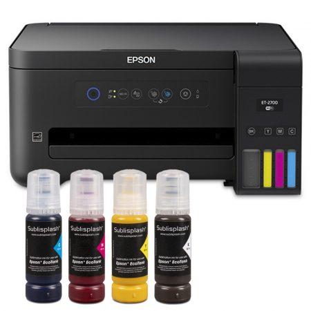 Printer A4 Epson + 4x80 ml ink Sublisplash + sublimation paper