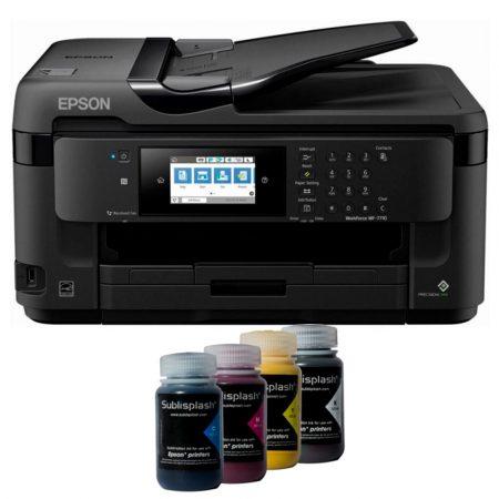 Printer A3+ Epson 7710 + 4x125 ml ink Sublisplash + sublimation paper