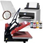 Преса с плот 40х50 см - HPM-Auto + Принтер А4 Epson Workforce  (зареден) + хартия и тиксо