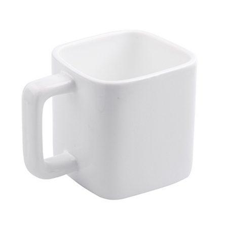 11oz Square White Mug