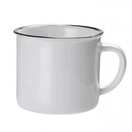 Емайлирана чаша с черен кант (10oz)