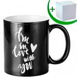 Engraving black magic mug - LOVE