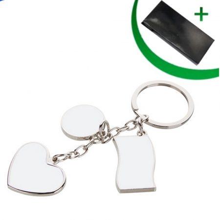 Метален ключодържател - 3 елемента