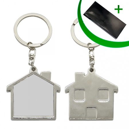 Metal keyring - House