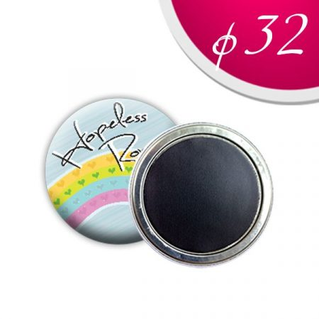 Magnet badges 32 mm (50 pcs)