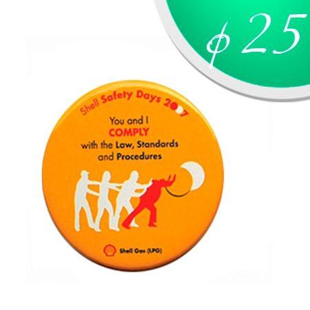 Magnet badges 25 mm