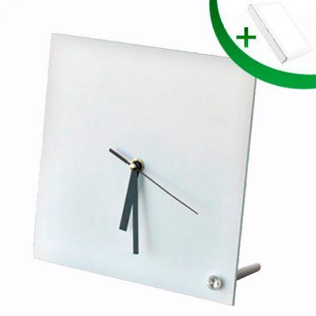 Стъклена фоторамка Часовник N26 (20 х 20 см)