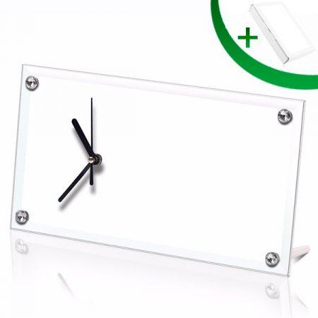 30x16cm Glass Clock