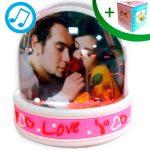 Music Water globe - LOVE