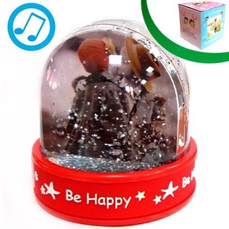 Музикално преспапие - HAPINESS (сребристи частици)