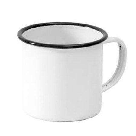 Емайлирана чаша с черен кант (8oz)