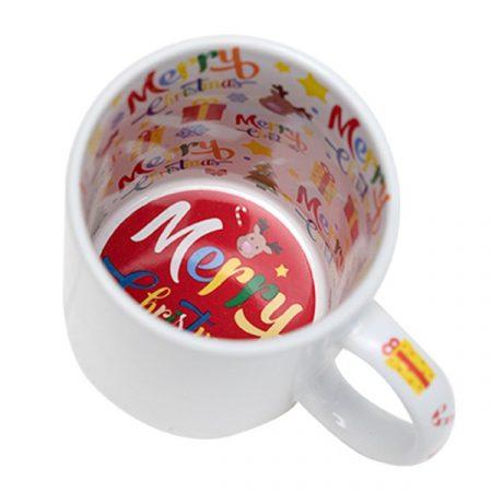 "11 oz white mug, ""Merry Christmas"""