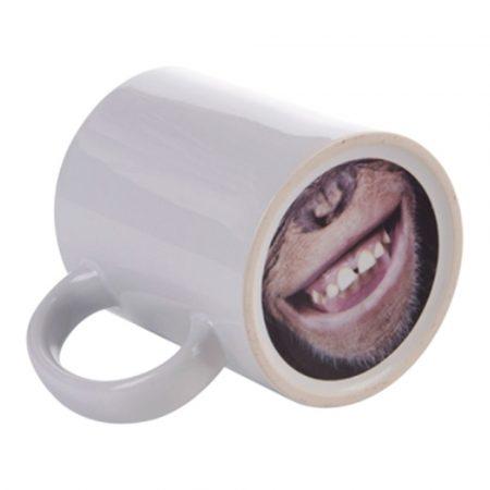 "11 oz white mug, ""Monkey"""