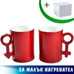 Комплект от две магически чаши (червени)