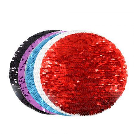 Самозалепващ текстил - КРЪГ (пайети)