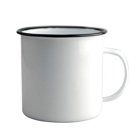 Емайлирана чаша с черен кант (метална)
