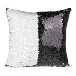 Sequin Pillow - black