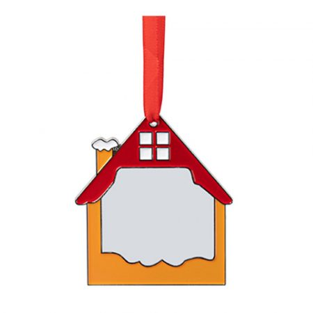 """3"""" Sublimation Blank Red House Metal Ornament"""