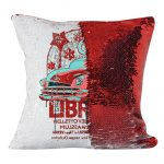 Sequin Pillow - red