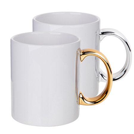 11oz Mug with Silver / Gold Handle